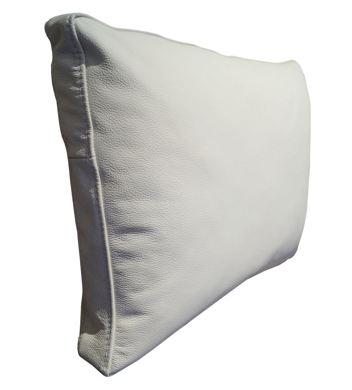 Quattro Meble Weiß Echt Lederkissen Sofa Deko Kissen Echtleder Rückenkissen Rückenkissen Rückenkissen Rindsleder Leder modell P&Z (50 x 50 cm) B078RW3S8T Zierkissen ee6e68