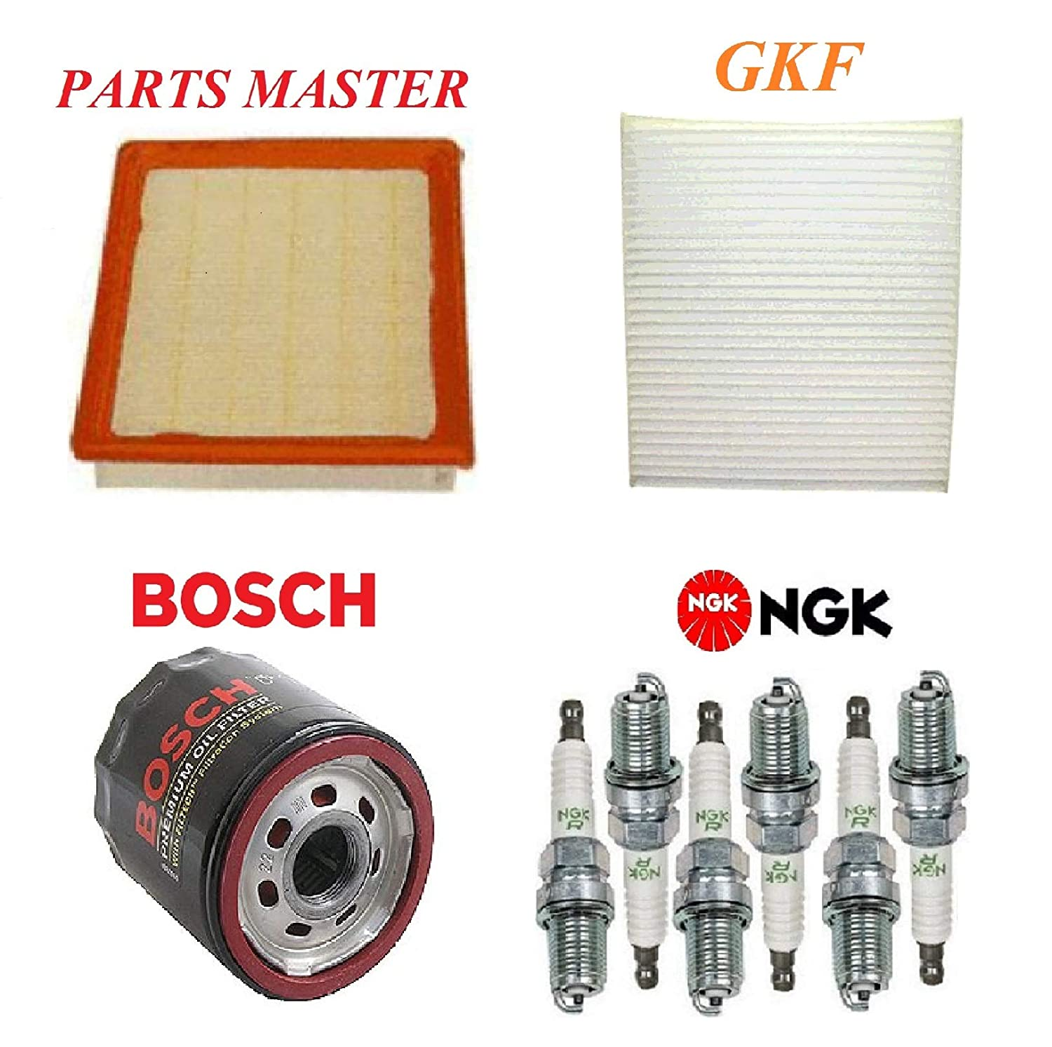 Tune Up Kit Air Cabin Oil Filters Spark Plug FIT CHRYSLER TOWN /& COUNTRY V6; 4.0L 2009-2010