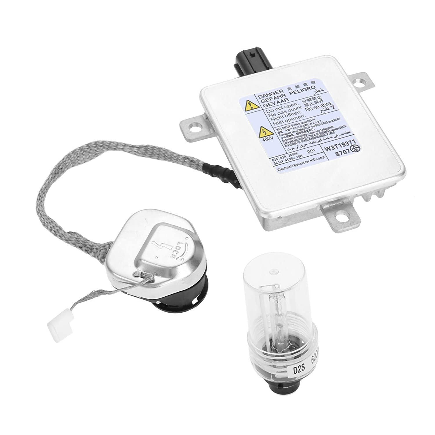 Aupoko Replacement W3T19371 Xenon HID Headlight Ballast with Igniter and D2S Bulb Control Unit Assembly Module for W3T15671 W3T16271 W3T20971, Fit for Acura Honda Mazda Mitsubishi - 6 Year Warranty