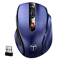 VicTsing Wireless Mouse Ergonomic Mice with [Nano Receiver] [5 Adjustable DPI Levels] [6 Buttons] for Computer Laptop Mac (Sapphire Blue)