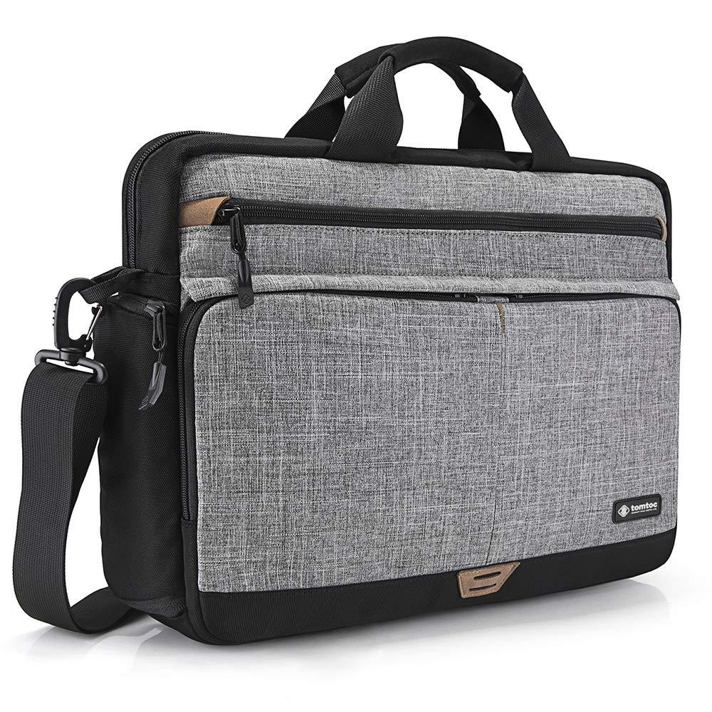 Gris 15,6 MacBook Port/átil tomtoc Bolso Bandolera de Hombro para 16 MacBook Pro 2019 Malet/ín Multifuncional para 15,6 HP DELL Acer Lenovo ASUS Samsung Notebook Tabletas