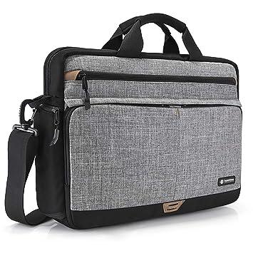 tomtoc 15.6 Pulgadas Laptop Bag Maletín Bolsa de Mensajero Funda de la Carcasa para 15-15.6 Pulgadas MacBook ASUS Acer DELL Lenovo HP Ordenador ...