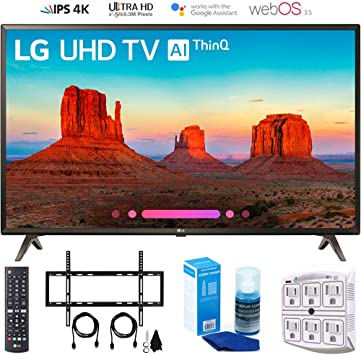 "LG 43/"" 4K Ultra HD HDR Smart TV w// Built-in Google Assistant *43UK6300"