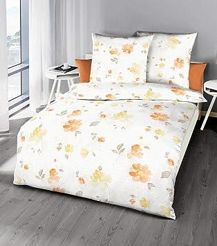 Kaeppel Edel Seersucker Bettwäsche 135x200cm Tender Apricot Gelb