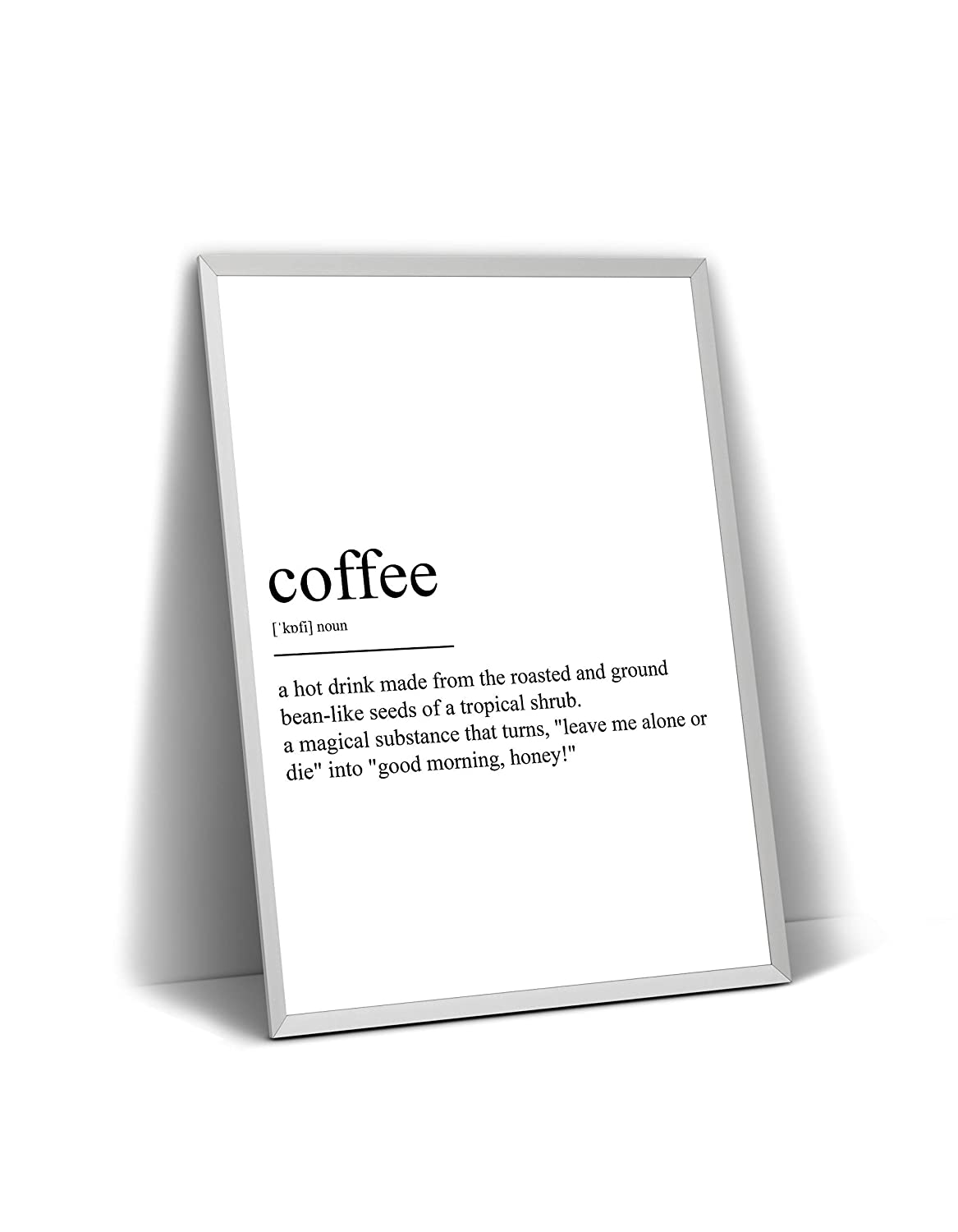 Frame Not Included Coffee Definition Print Poster Wall Art Quote Typography Home