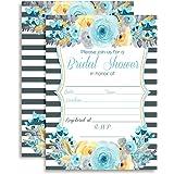 Amanda Creation Bridal Shower Brunch Floral Bridal Shower Fill in Invitations Set of 20 Including envelopes