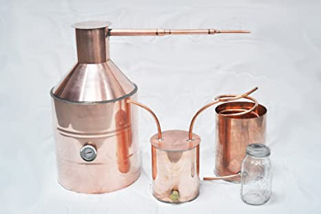 Amazon com: 5 Gallon Copper Moonshine Still: Kitchen & Dining