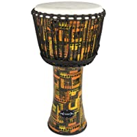 "World Rhythm 12"" Djembe Drum in Orange - African Synthetic Djembe Drum"
