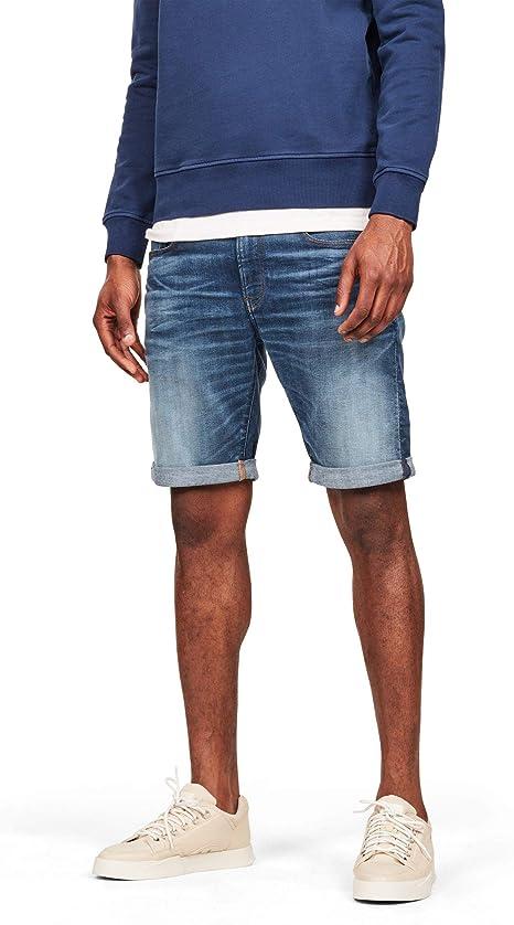 TALLA 24W. G-STAR RAW 3301 Slim 1/2 Pantalones Cortos para Hombre