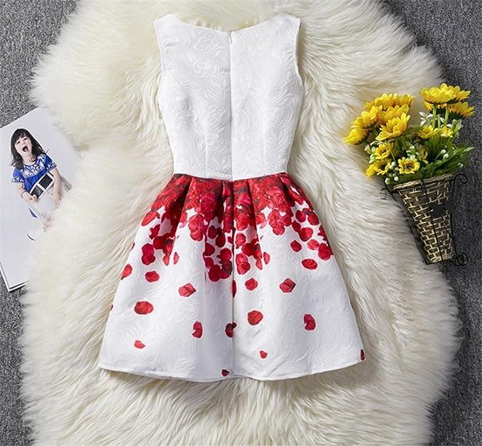 b6dfe1628 TMKOO 2018 Niñas Vestido Verano Mariposa Floral Imprimir Adolescentes  Vestidos para Niñas Diseñador Formal Vestido de Fiesta Niños 6-12Año de  Edad (tamaño ...
