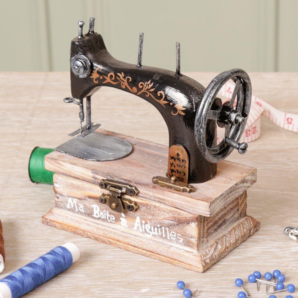 Vintage cantante máquina de coser caja para botones, agujas y hilo ...