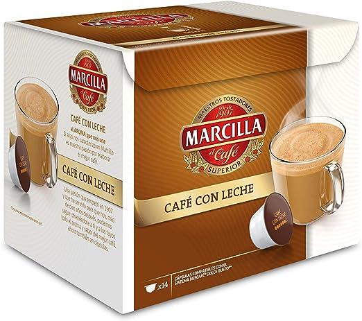 Marcilla Café Con Leche Cápsulas Compatibles Con Las Cafeteras Nescafé R Dolce Gusto R 3 Paquetes De 14 Cápsulas Total 42 Cápsulas Amazon Es Alimentación Y Bebidas