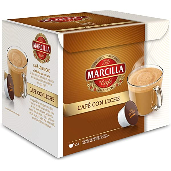MARCILLA Café con Leche - cápsulas compatibles con las cafeteras Nescafé(R)* Dolce Gusto(R)* | 3 paquetes de 14 cápsulas - Total 42 cápsulas: Amazon.es: Alimentación y bebidas