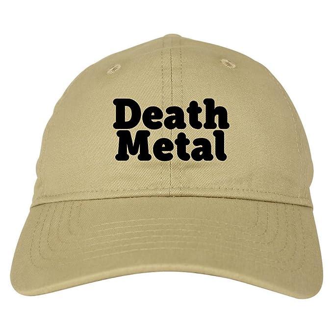 67c3578a6feb1 Death Metal Rainbow Unicorn 6 Panel Dad Hat Cap Beige at Amazon Men s  Clothing store
