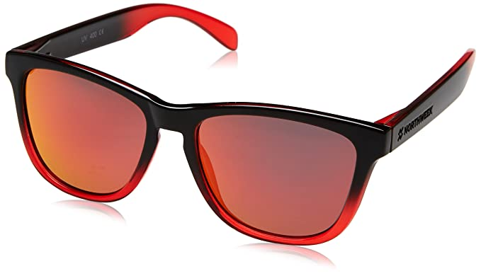 NORTHWEEK Gradiant Gafas de sol, Shine Black/Red Polarized ...