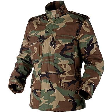 Helikon Genuine M65 Jacket Woodland at Amazon Men s Clothing store  b72dbab4cfa