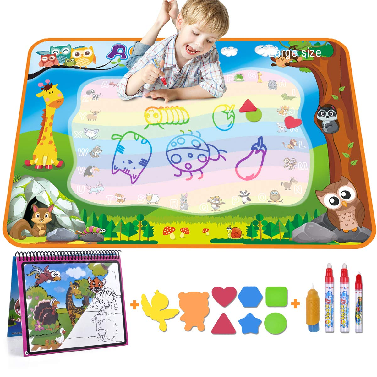 Aqua Magic Doodle Mat Large Water Drawing Mat for Kids Gifts Educational Toy Toddler Painting Board