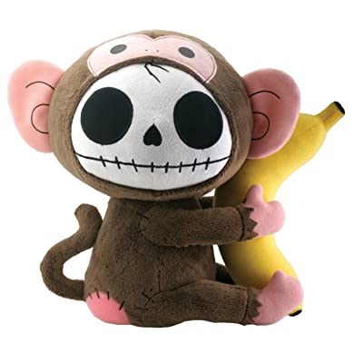 SUMMIT COLLECTION Furrybones Monkey Munky Holding onto Banana Plush Doll: Home & Kitchen