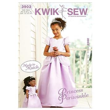 Kwik Sew Muster 4–5 Größe XS – S 6 – M 7–8 – L 10 – Extra Groß 12–14 ...
