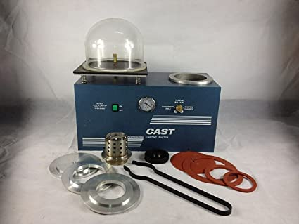 Jewelry Lost Wax Cast Combination Vacuum Investing Casting Investment  Machine 2L