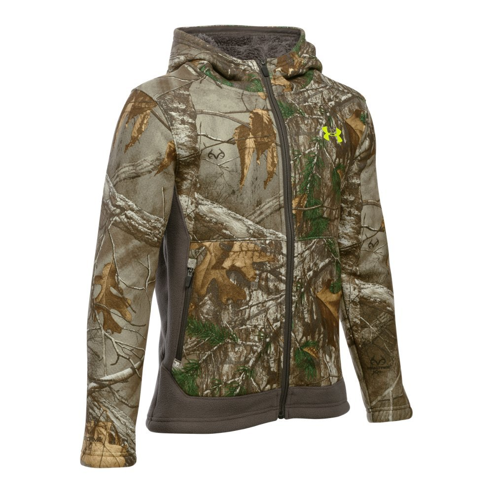 Under Armour Boys Stealth Fleece Jacket, Realtree AP-Xtra, Small