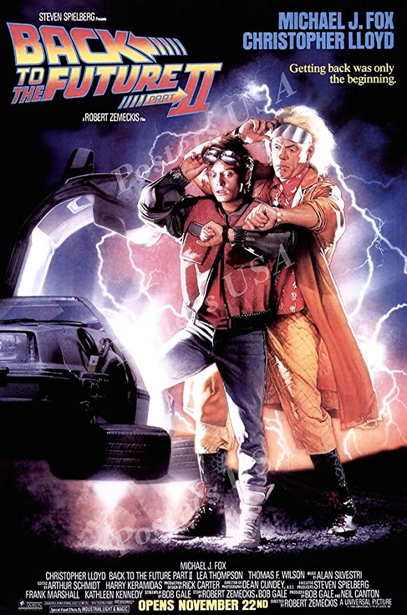 "Amazon.com: Posters USA Back to the Future II Part 2 Movie Movie Poster  GLOSSY FINISH - MOV039 (24"" x 36"" (61cm x 91.5cm)): Posters & Prints"