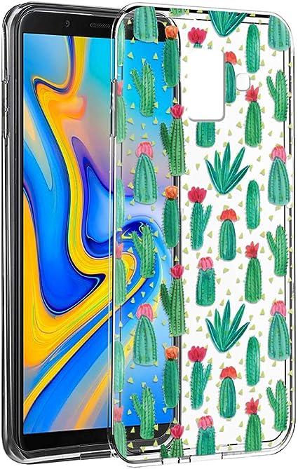 Coque Samsung Galaxy J6 Plus, ZhuoFan Etui en Silicone 3D Transparente avec Motif Peinture Design [Anti Choc] Housse de Protection Coque pour ...