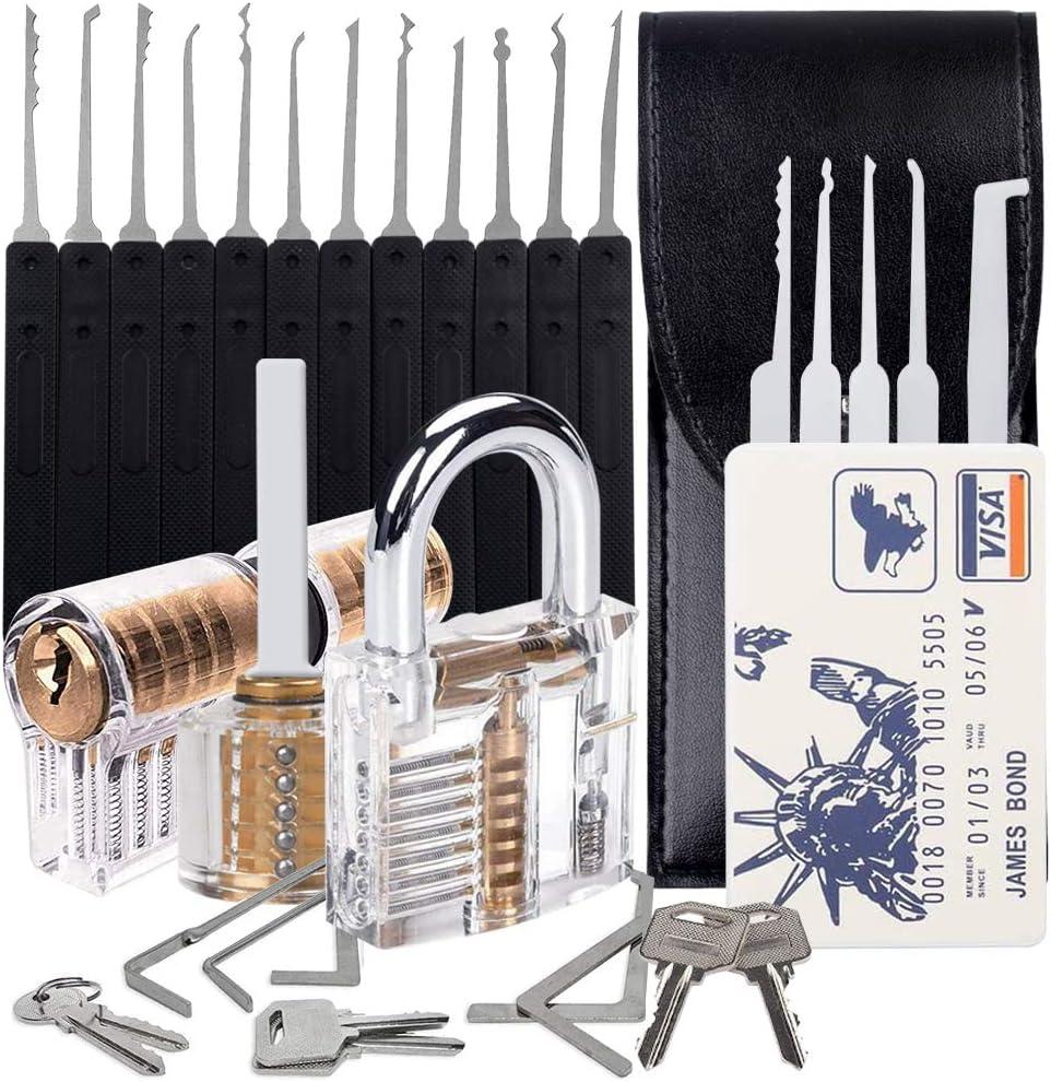 Door Professional Training Multifunctional Use Specially Designed Training kit Professional 20 PCS Multifunctional Tool Set-Stainless Steel 3 Lockfor Storage Cabinet
