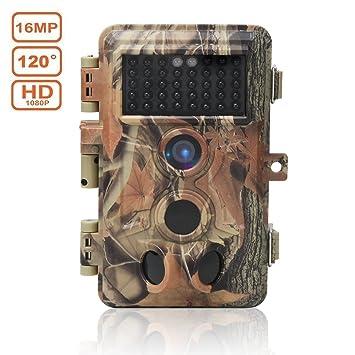 16MP Cámaras de Caza 1080P HD Impermeable,Gran Angular de 120° y