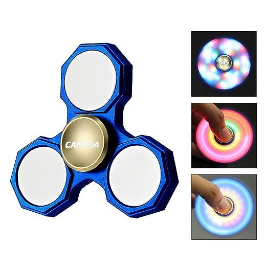 61 opinioni per Fidget Spinner,CAMTOA Tri Hand Spinner Toy/LED Spinner Fidget Mano Dito Filatore