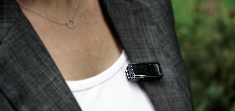 Bluetooth micr/ófono para iPhone y Android Samsung Galaxy S3/Mini i8190, inal/ámbrico Lavalier micr/ófono para grabaci/ón de Audio y v/ídeo Hey micr/ófono