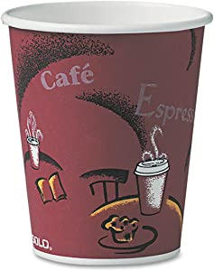 SOLO. Cup Company Bistro Design Hot Drink Cups, Paper, 10oz, 50/Pack (370SIPK)