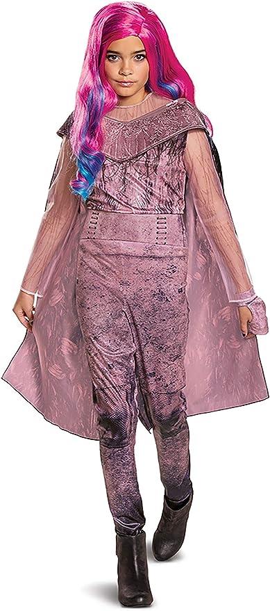 Details about  /Kid/&Adult Descendants 3 Evil Audrey Cosplay Costume Halloween Pink Jumpsuit Suit
