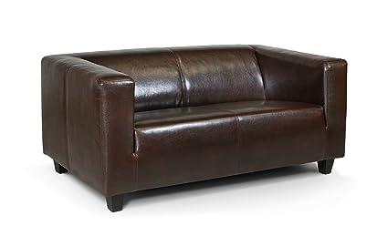 Extrem Collection AB 2-Sitzer Sofa Kuba 149 x 88 cm, Kunstleder, braun JH74