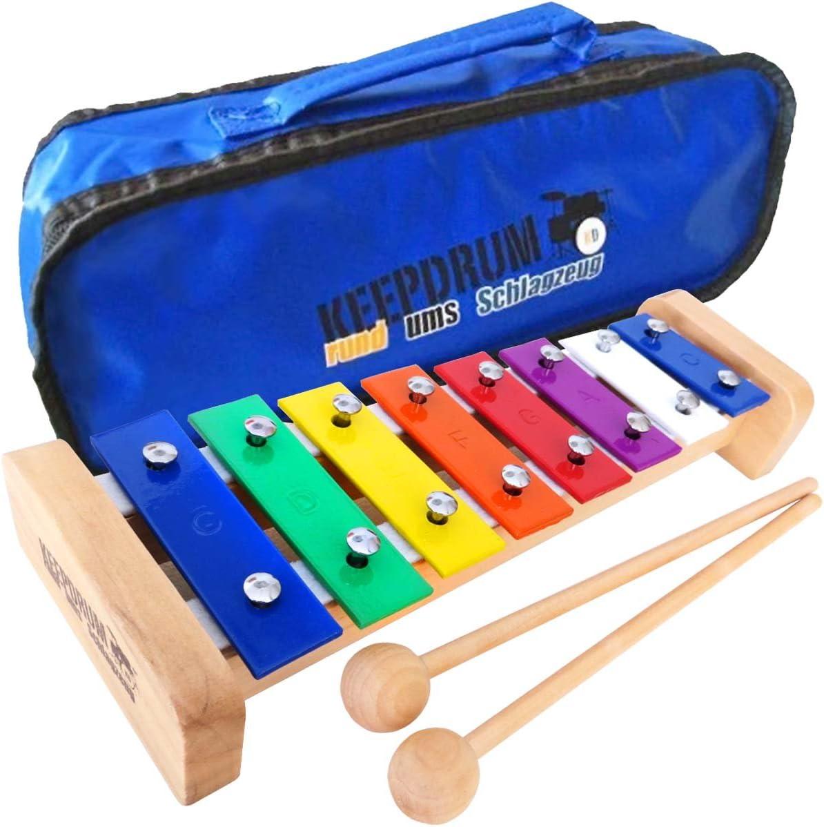keepdrum KGS1 Glockenspiel aus Holz Xylophon Tragetasche MB01