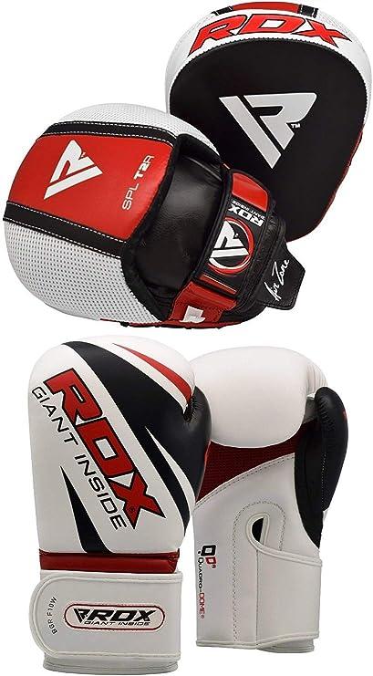 RDX Boxing Gloves Strike Pads Punching Focus Mitts Kick Shield Muay Thai US