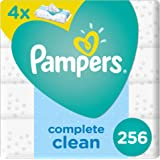 Pampers Fresh Clean Baby Wipes, 3+1, 256 Count