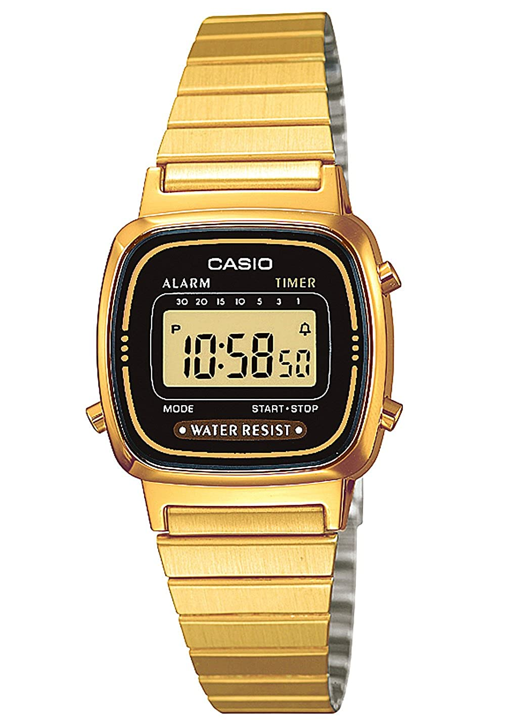 Casio Damen Retro Uhr Gold LA670WEGA-1EF