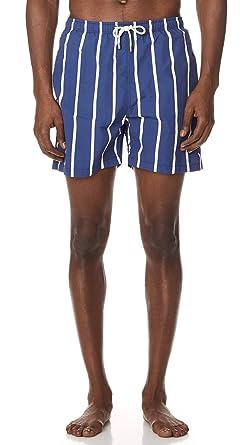 69c0cfa198 Solid & Striped Men's The Classic Slate Bondi Stripe Trunks | Amazon.com