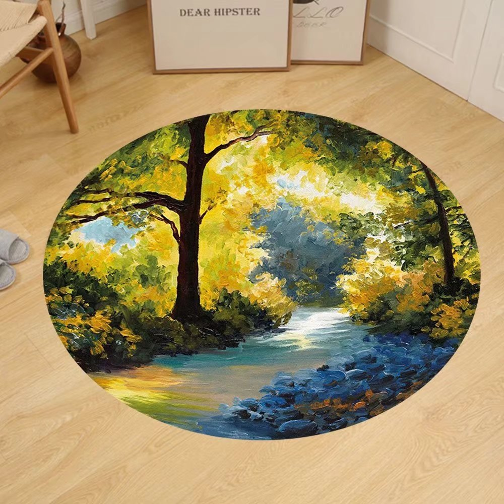 Amazon Com Gzhihine Custom Round Floor Mat Nature Decor