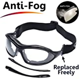 SAFEYEAR Gafas de Seguridad Antiempañamiento -SG002 Gafas Protectoras trabajo Bicicleta con Protección UV laboral laboratorio graduadas conluz nerf antivaho ordenador para cortar cebolla deporte diodo