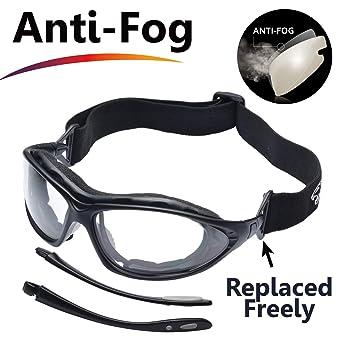 1661b10997 SAFEYEAR Gafas de Seguridad Antiempañamiento -SG002 Gafas Protectoras  trabajo Bicicleta con Protección UV laboral laboratorio