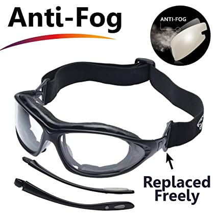 87305f0656 SAFEYEAR Anti Fog Safety Glasses- SG002 Clear Scratch Resistant Work  Glasses for Men and Women No-Slip Grips, VU Protection Safety Goggles for  DIY, ...