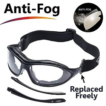 5178fa7419d65 SAFEYEAR Lunette de Protection Travail –SG002 Anti-buée Homme Taille Lunettes  Protection Ellipse
