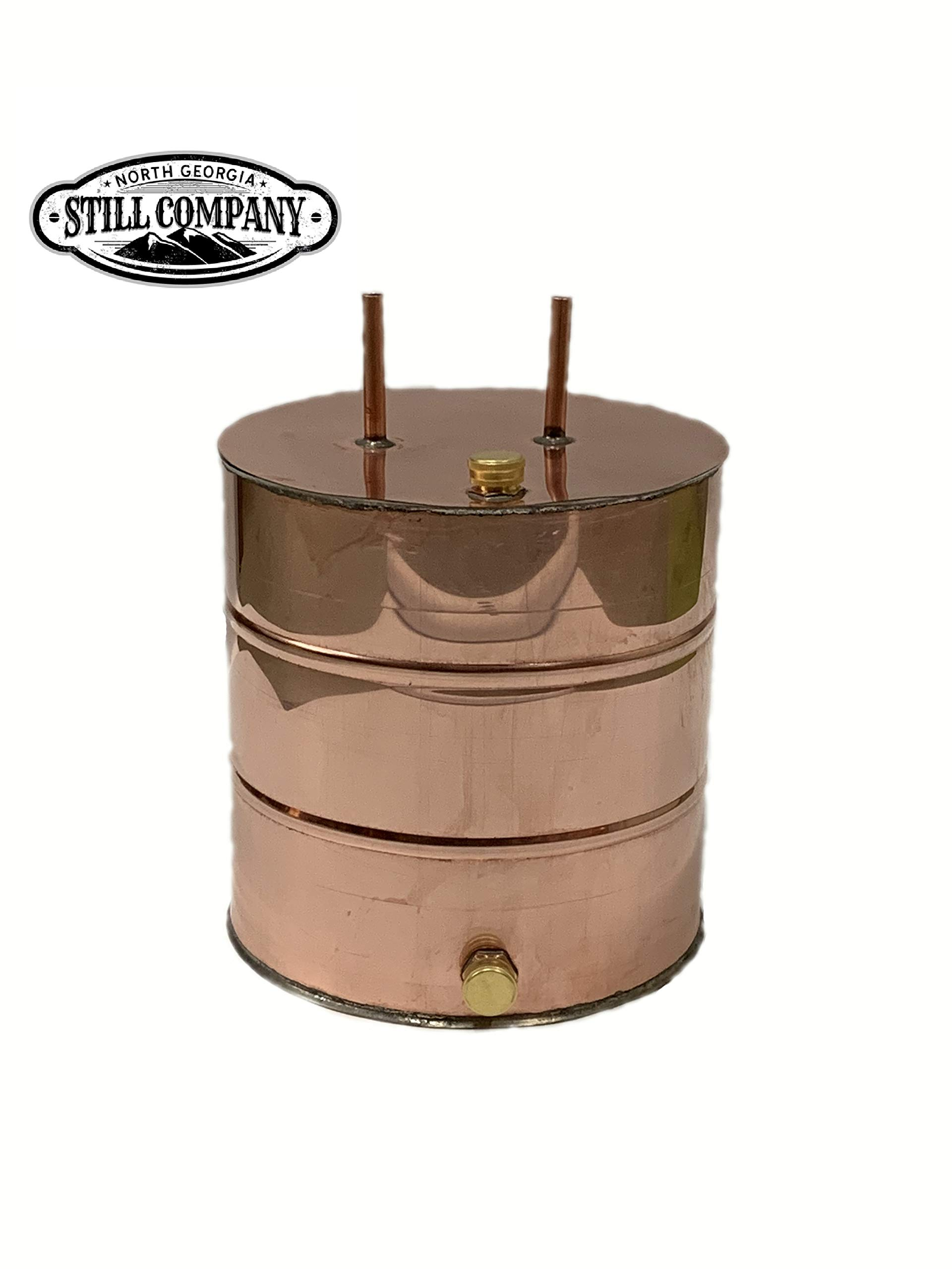 Moonshine Whiskey Still 5 Gallon Thumper Keg Doubler, 1/2 OD Tubing by North Georgia Still Company