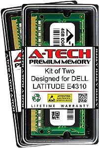 A-Tech 8GB (2 x 4GB) RAM for DELL Latitude E4310   DDR3 1066MHz SODIMM PC3-8500 204-Pin Non-ECC Memory Upgrade Kit