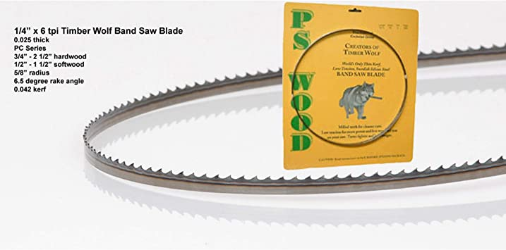 4TPI Timber Wolf Bandsaw Blade 111 x 1//2