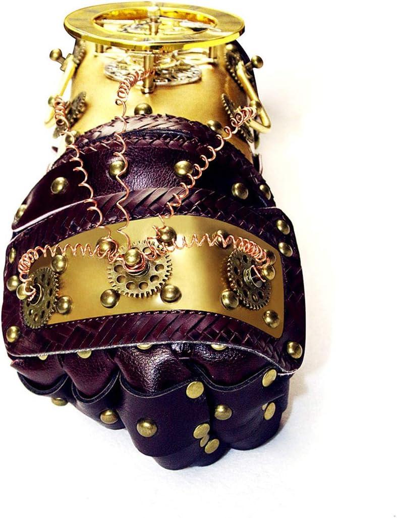 Color : Gold YUMUYMEY War Gauntlet Gold Arm Glove con Horologe Gears Costume Cosplay Steampunk Props Accessori con Confezione Regalo