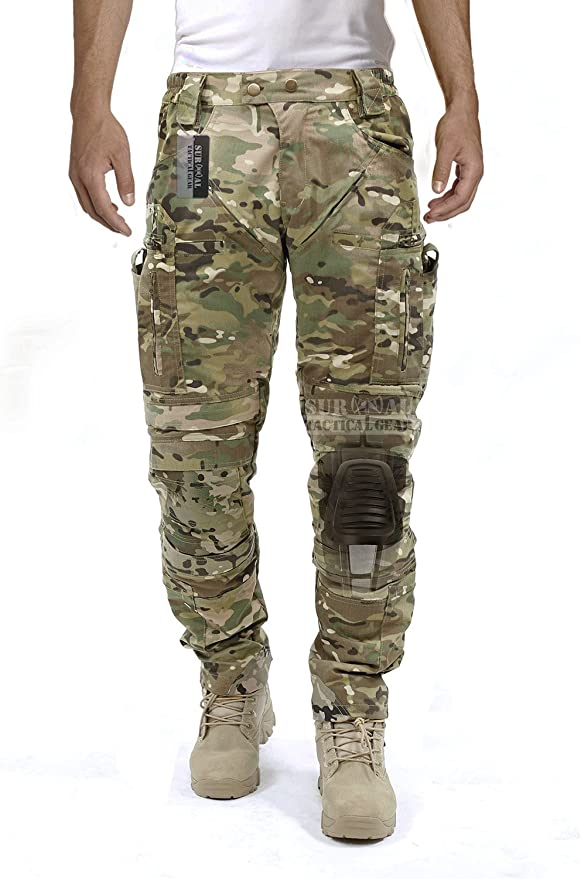 生存战术齿轮男士膝关节保护系统和空气循环系统的战术裤