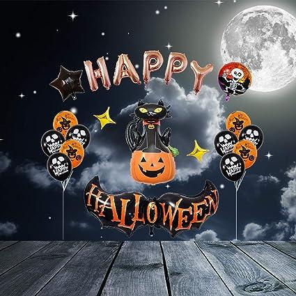 Amazon.com: TOYANDONA 1 Set de Globos de Halloween Feliz Set ...